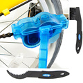 3 unids = 1 Unidades Limpiador de Cadena de Bicicleta Ciclismo Bike Machine Protector de Cadena de La Bicicleta Cleaner Tool Kit cepillos Fregadoras Wash Herramienta Kits