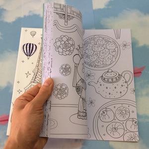 Image 4 - 64 דפים סביב העולם צביעת ספר סוד גן צביעת ספר למבוגרים ילדי להקל על לחץ גרפיטי ציור ספר