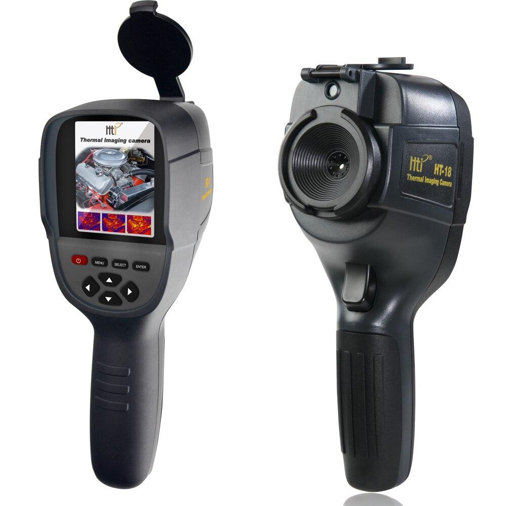 HT-18 Handheld IR Termovisor Digitais Câmera Detector De Temperatura de Calor Infravermelho com jogo de armazenamento Buscar/Térmico FLIR