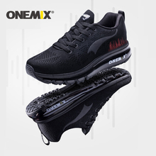 ONEMIX Running Shoes For Women Athletic Trainers Black Sports Air Cushion Outdoor Breathable Mesh Jogging Shoes Walking Sneakers