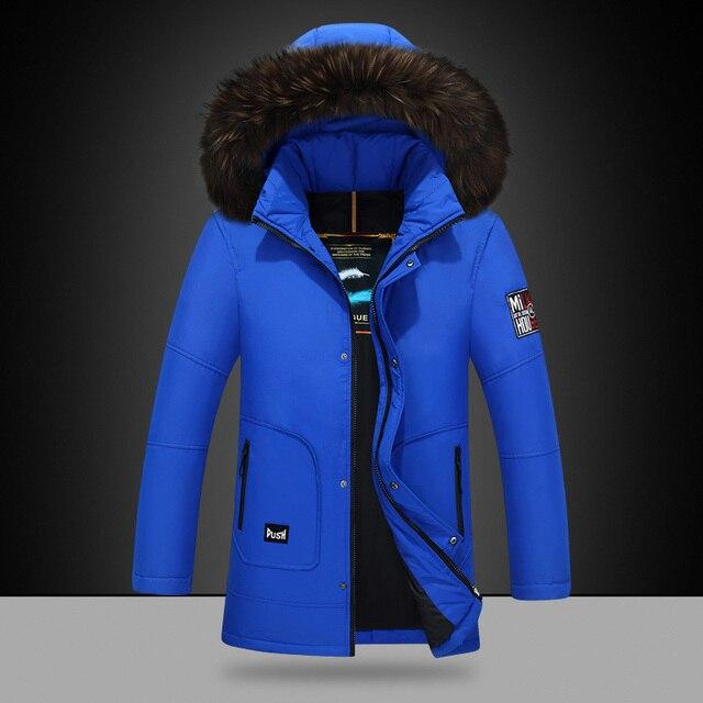 2016 Nova Chegada de Moda de Inverno Com Capuz Para Baixo Jaqueta Slim Fit Venda Quente Ocasional Para Baixo Casaco de Marca Dos Homens Outwear Manter Quente