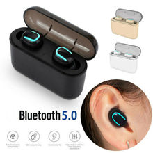 Twins Bluetooth 5.0 Wireless Earbuds In-Ear Dual Earphone TWS Headset With Mic Charge box Sport Gami