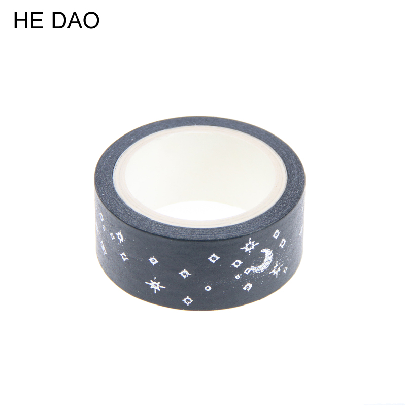 1 PC Moon Stars Washi Paper Masking Tapes Diy Scrapbooking Heart Stickers Gift Wrapping Sticker