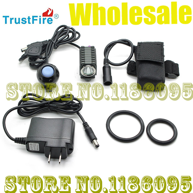 Wholesale Free Shipping TrustFire TR-D001 1*Cree XM-L2 T6 Bicycle Bike Front Light  4-Mode 600LM Cool White LED Bike Light trustfire tr d014 7 led 4 mode 3000lm cool white bike light grey purple 6 x 18650