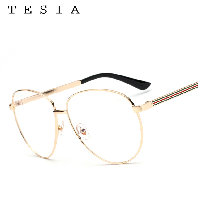 cf12307d47 TESIA Aviator Women Glasses Frame Brand Designer Men Eyeglasses Frame  Eyewear Clear Lens For Optical Glasses Myopia Frames T962