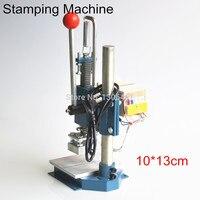 Ручная машина для горячего тиснения фольгой  принтер для тиснения кожи  1 комплект  10x13 см  220 В