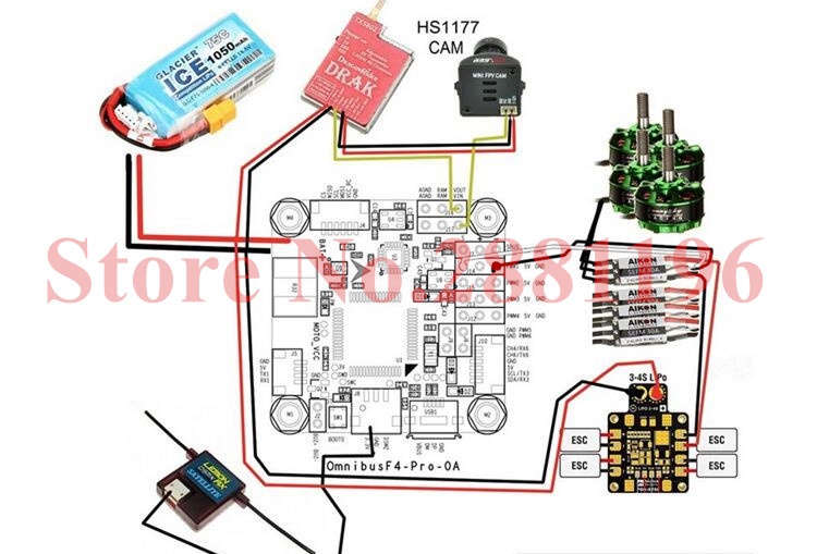 Betaflight OMNIBUS F4 Pro V2 Flight Control Built in OSD BEC for FPV Racing Drone DIY aliexpress com buy betaflight omnibus f4 pro (v2) flight control omnibus f4 pro wiring diagram at gsmx.co