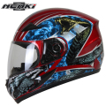 NENKI Motorcycle full face helmet Snowmobile ATV Motorbike Street Bike Motor Riding Racing with Clear