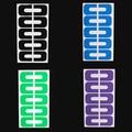 Nuevos Calientes Nuevos 10 Unids/1 Hoja de Manicura de Uñas Desechables Arte Peel Off Cintas Etiqueta Engomada de la Guardia de La Cutícula