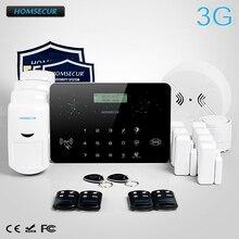 HOMSECUR Wireless 3G/2G RFID Burglar Intruder Pet-Immune/Friendly Alarm System  LC03-3G