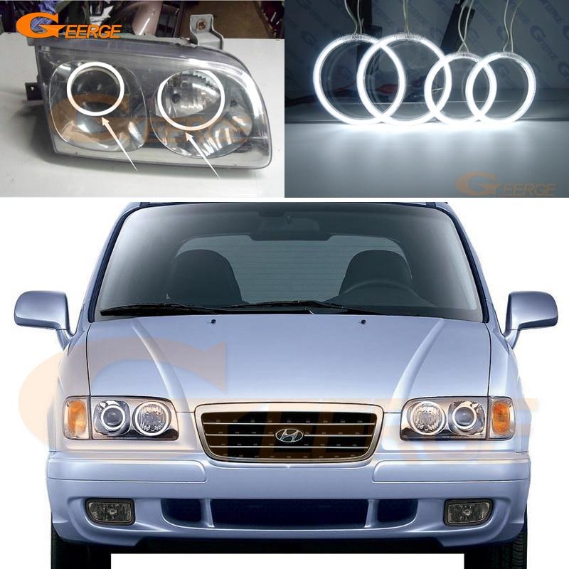 Для Hyundai TRAJET 1999-2008 ХД отличный Ультра яркие лампы освещения CCFL Ангел глаза комплект гало кольцо