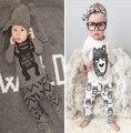 2017 Девушка Одежда Осень Одежда Устанавливает Весна Мальчики новорожденный с длинными рукавами одежда Roupas Bebe Детские Комбинезон XY-102