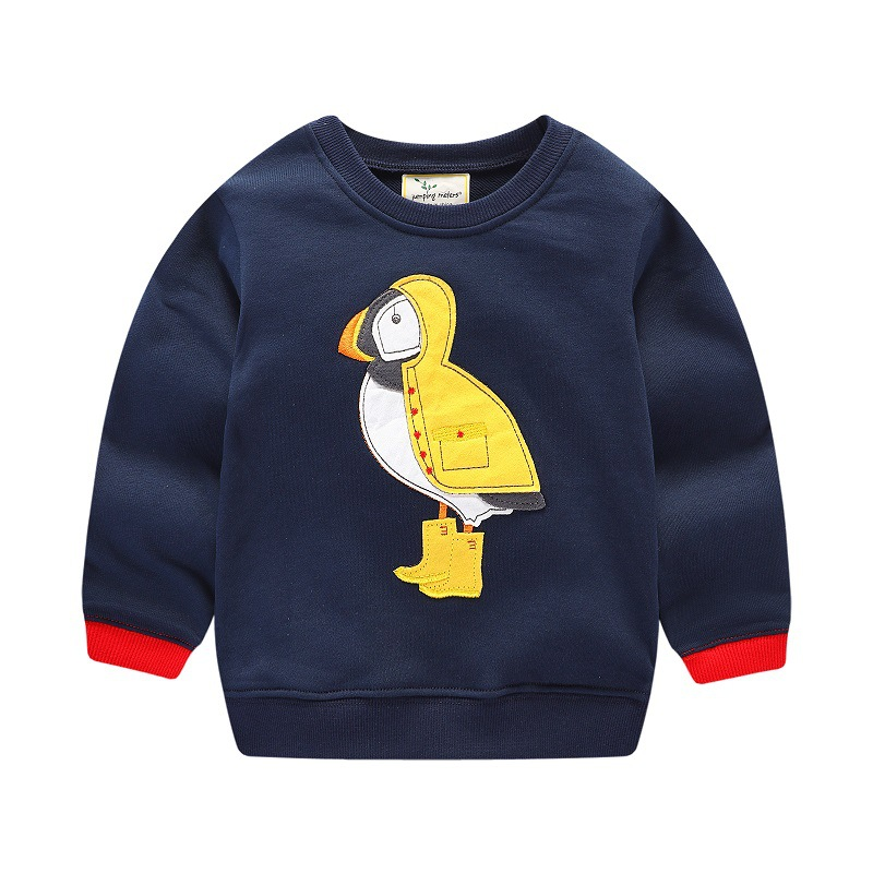 Fashion boys T Shirts kids new designed Tops Kids Clothes applique girls boys Clothing Spring Winter Jumping meters brand 2018 jumping meters boys winter clothes children clothing sets animal tops pants 100% cotton 3017 brand kids tracksuit boys outfits