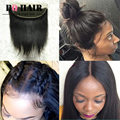 """BQ HAIR Cabello Humano Brazilian Straight 13"""" x 4 Pre Plucked Lace Frontal 8A Remy Lace Closure Sew in Weave Top Aliexpress #1B"""