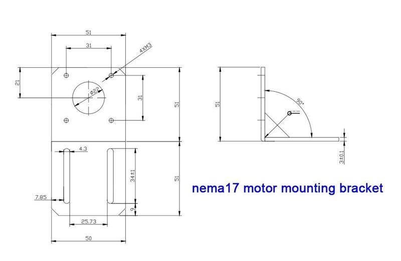 and Printer NEW RH 42mm NEMA 17 Stepper Motor Bracket Mount for CNC
