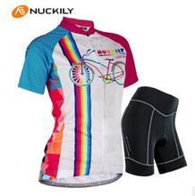 NUCKILY Brand Quality Cycling Jerseys Women Short Sleeve Bike Clothings Lycra Fabric Bike Shirt Bicycle Clothes Hot Sale GG001