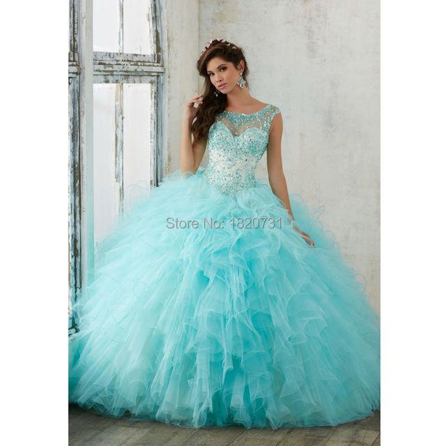 Chegada nova sweet 16 vestidos beading luxo com cristal vestidos de baile da luva do tampão colher vestidos quinceanera 2017 por 15 anos