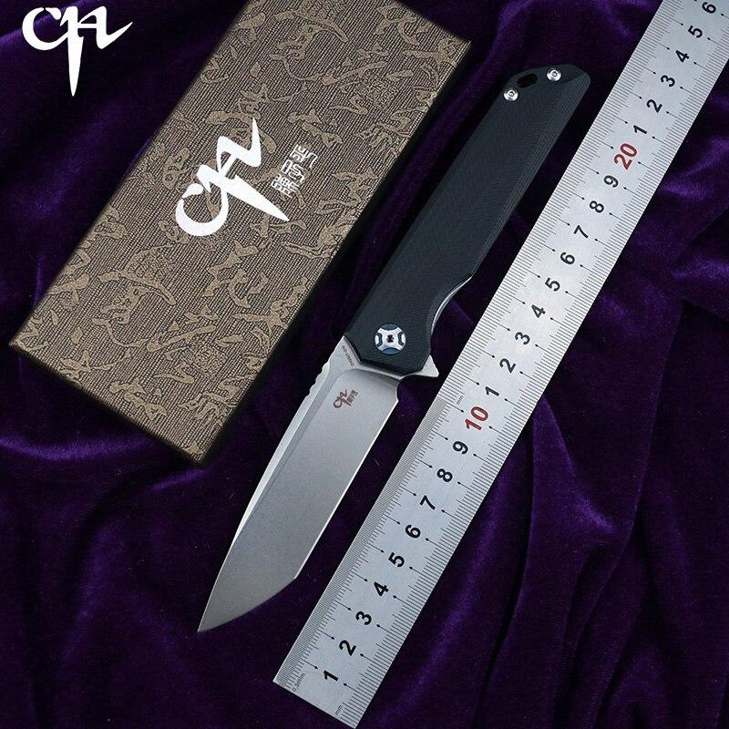 CH CH3507G10 Flipper folding knife D2 blade ball bearing G10 steel handle outdoor camping fruit knife