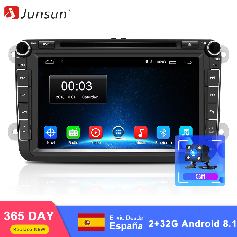Junsun RAM 2 32GB Android 8 1 automagnitol 2 din android Car radio DVD For Golf