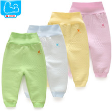 YiErYing  Newborns Trousers Spring and Autumn Winter Boy Girl Infant High Waist Pants Thicker Warm Leisure Baby