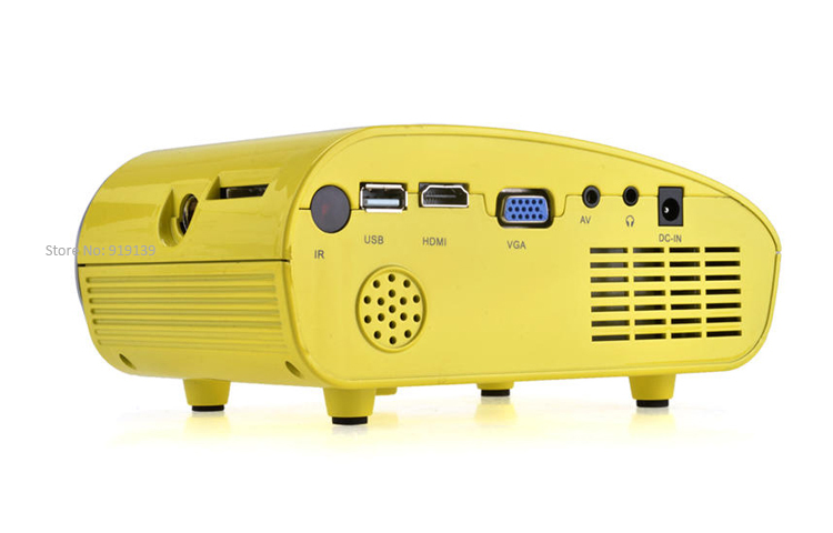mini projector yellow pic 3