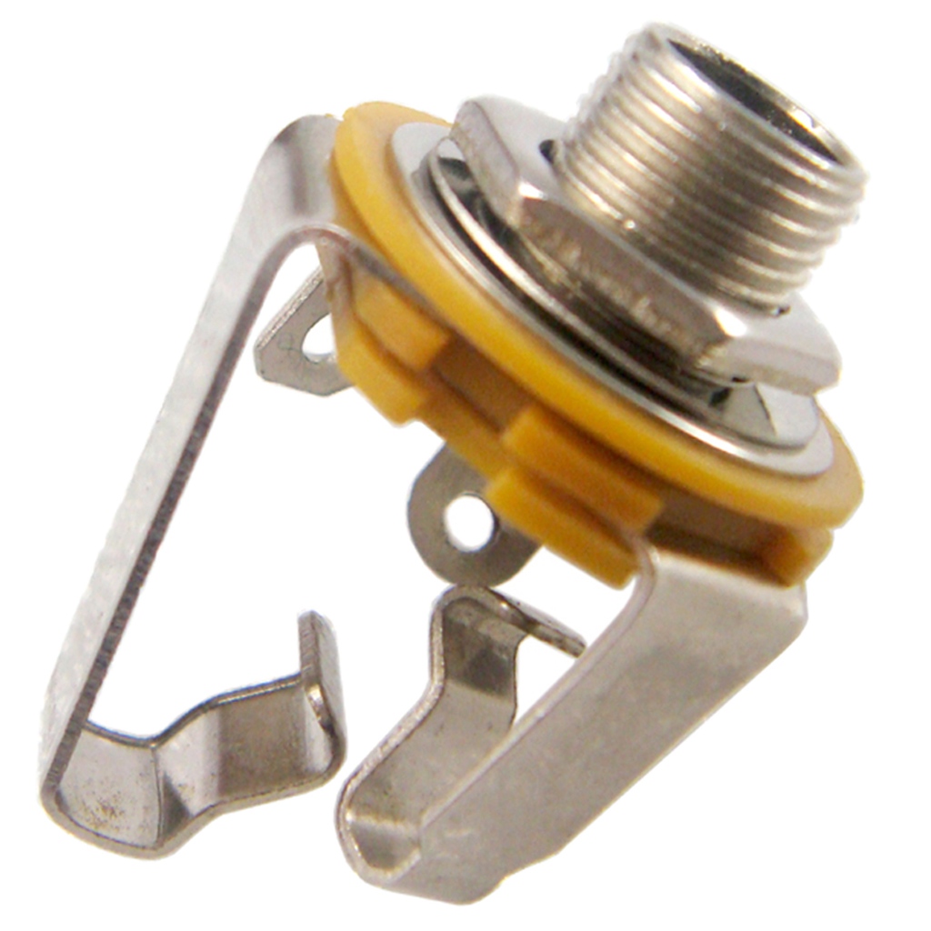 1 4 39 6 35mm Jack Socket Stereo Output Connector Plug Height Adjustment For Guitar Bass Pick up Silver in Guitar Parts amp Accessories from Sports amp Entertainment