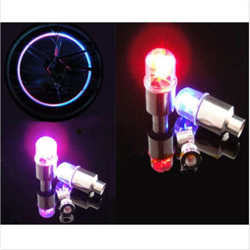 Miumiu 4Pcs/set Universal Colorful LED Car Lights Accessory Wheel Tire Tyre Air Valve Stem Lamp Bulb Cap Light