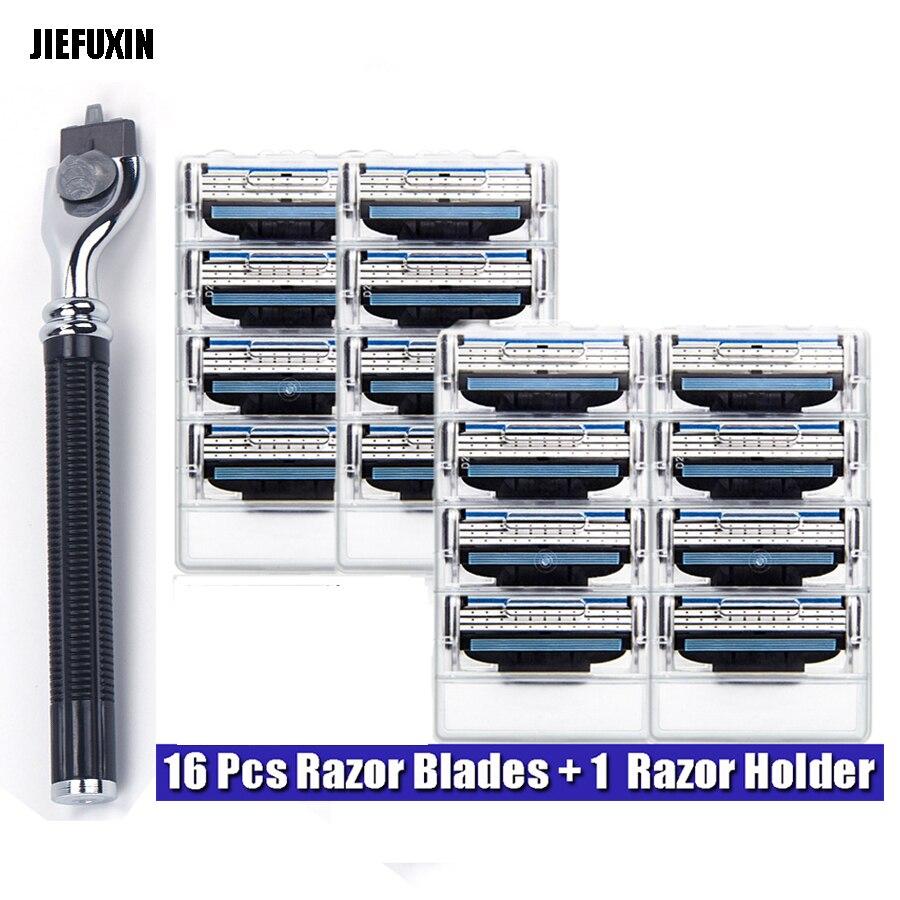 JIEFUXIN High Quality 16pcs Men's Safety Razor Blades+1 pcs s