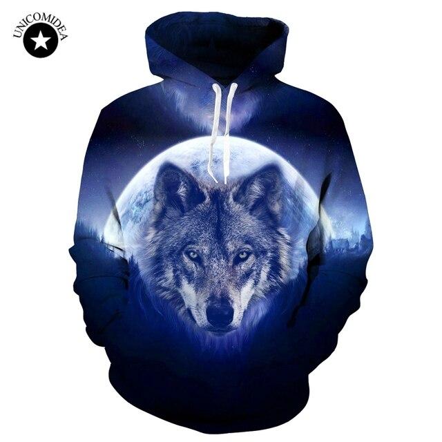 Men Women Hoodies Wolf 3d Print Tracksuit Long Sleeve Pullover Hooded Streetwear Harajuku Hip Hop Sweatshirts Loose Tops Jackets