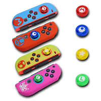 Case for Nintend Switch Joycon Cover Solft Silicone Case with Thumbstick caps for Nintendo Switch Controller Grip Joy-con Cover