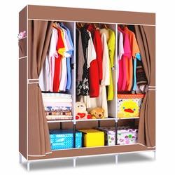 House scenery non woven folding fabric wardrobe storage metal portable closet clothes bedroom furniture wardrobe fashion.jpg 250x250