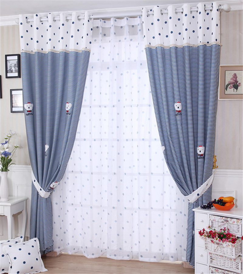 popular blue bedroom curtains-buy cheap blue bedroom curtains lots