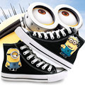 Unisex Casual Shoes Flats Men Jeans High Top Canvas Shoes Japan School Anime Walking Minions Shoes for Couple Trainers Adults