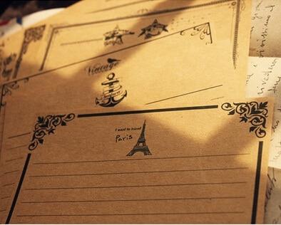 Hot selling 210*145mm.retro Life retro Kraft letter paper.greeting letter paper