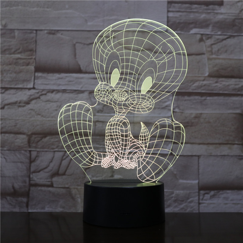 TweetyBird LED Night Light USB Touch Sensor RGB Decoration Child Kids Gift Cartoon Action Figure Tweety Bird Table Lamp Bedroom