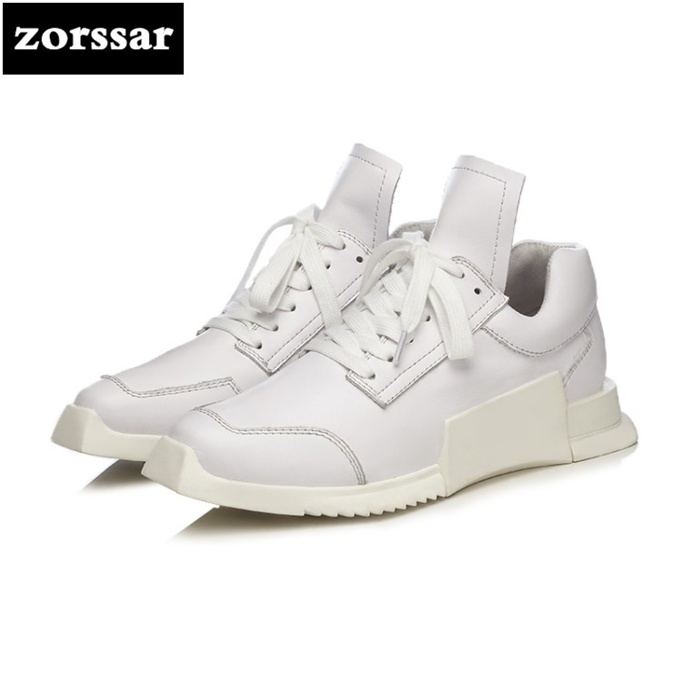 {Zorssar} 2018 New Genuine Leather Flats Women Small White Shoes Ladies Casual shoes women sneakers shoes Student Sport Shoes 2016 new ggdb women shoes golden goose super star casual shoes genuine leather gold men women sport flats low cut shoe