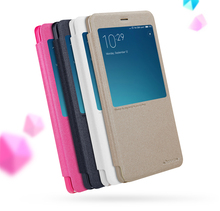 Xiaomi redmi note 4 case NILLKIN Искра супер тонкий humanized window дизайн откидная крышка PU leather case for redmi note 4 pro