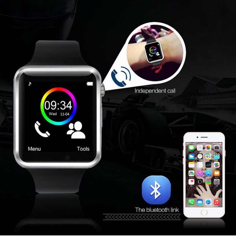 Reloj inteligente A1, reloj inteligente con Bluetooth, reloj de pulsera deportivo 2Gsim TF, reloj de pulsera con cámara para Apple iPhone, Android, hombres, Wach