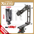 XILETU 720PR-2 3D Cabeça do Tripé Panorâmica Kit Lengthed QR Placa longo de Slides Nodal Ferroviário 10 Turnos Para shoot Cego Braçadeira extensor