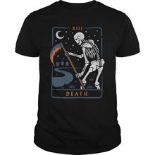 Смерть Таро футболка Размеры S, чтобы Футболка с принтом героев мультфильма унисекс новые модные футболки свободные Размеры Топ ajax смешные футболки