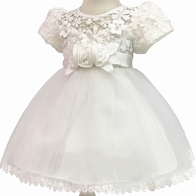 1 Year Birthday Baby Girl Dresses For Baptism Infant Snow White Princess Lace  Christening Gown Newborn 1447468a1e94