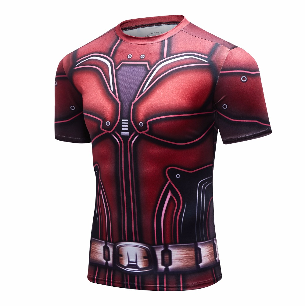 f7fe182a6d4c 2018 new 3D Printed T shirts Men Compression Shirt Brand New Comics Batman  Cosplay Short Sleeve Tops For Male Fitness Clothes