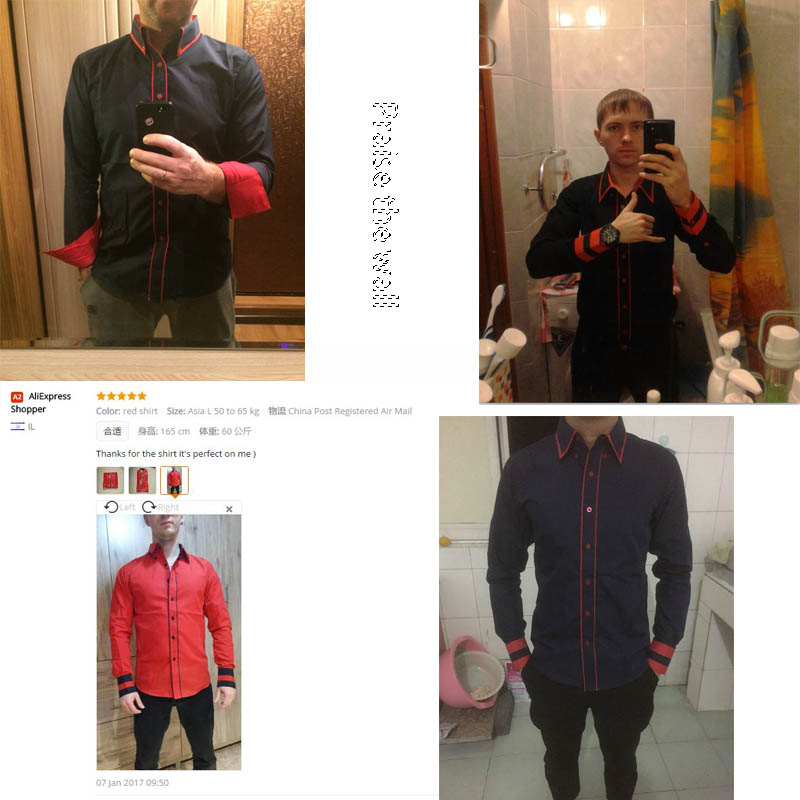 Men Shirt 17 Fashion Brand Men'S Cuff Striped Long-Sleeved Shirt Male Camisa Masculina Casual Slim Chemise Homme XXL SHDWQ 1