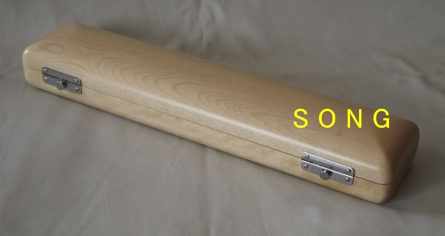 16 holes wooden box flute case solid wood velvet wooden flute case hard case rosewood color durable 17 hole b foot flute also c foot flute