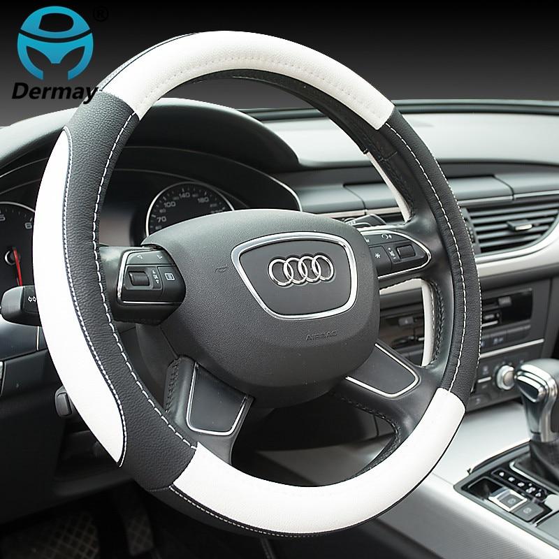 2016 New Adicolo Four Elegant Luxury Car Steering Wheel Cover Four Trend Odorless Sets 38cm senior luxury hand knitted bv style car steering wheel cover for mini cooper