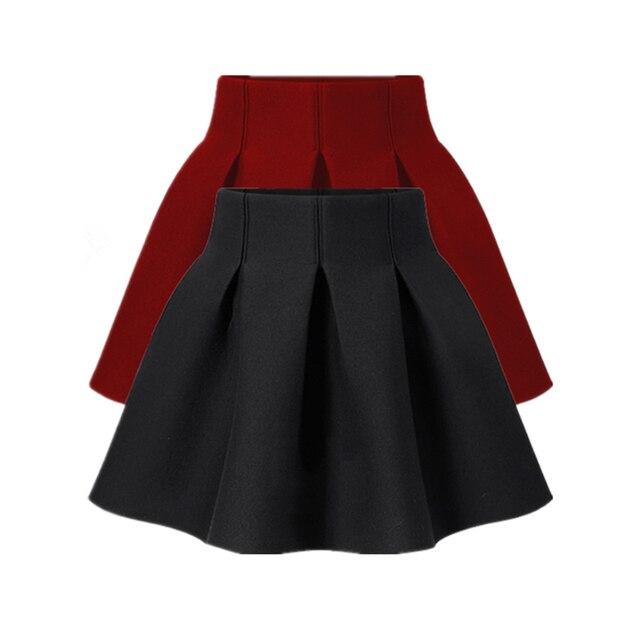 Novo 2016 Primavera E Outono Das Mulheres Saia Vestido de Baile Sopro Preto saia de Cintura Alta Saia Curta Plus Size Busto Saia Para A Mulher