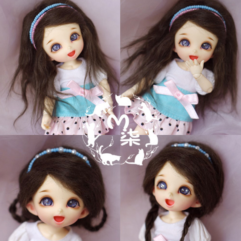 1PCS 6Colors Doll Accessories SD BJD Lutka perika 1/8 1/12 Perike za lutke DIY