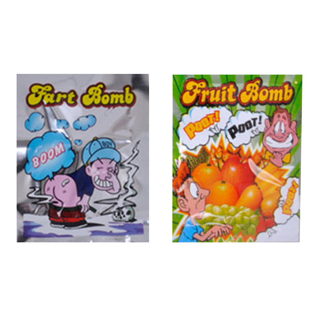 5pcs/lot Free Shipping Funny Fart Bomb Bags Stink Bomb Smelly Funny Gags Practical Jokes ...