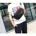 Men Fashion PU Leather Travel Cross Body  Messenger Shoulder Sling Chest Rivets Bag