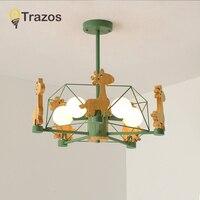 2019 Новый Животный светодиодный Люстра деревянные люстры для гостиной деревянный обеденные лампы современные потолочные светильники освещ